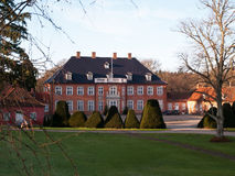Big beautiful mansion house estate Denmark Stock Photography