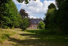 Big beautiful mansion house estate Denmark Royalty Free Stock Photography