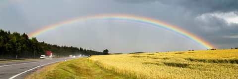 Big beautiful rainbow Stock Image