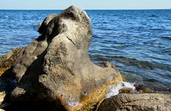 Big beautiful stone  of the sea Stock Photography