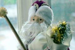 Big beautiful toy Santa Claus front view stock image
