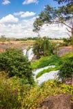 Big beautiful waterfall Royalty Free Stock Photography