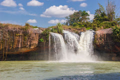 Big beautiful waterfall Stock Photography