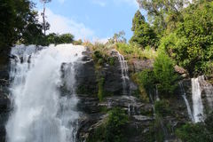 Big and beautiful waterfall, touristic attraction Stock Image