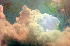 Big beautiful white cloud Royalty Free Stock Photo
