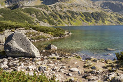 Big Lake one of Five Lakes in Tatra Mountains - Po Royalty Free Stock Photography