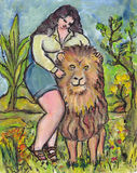 Big Beauty tames the Lion Stock Images