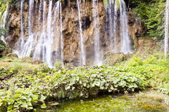 Big and beauty waterfall - Plitvice lakes Royalty Free Stock Image