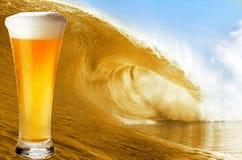 Big beer wave Stock Image