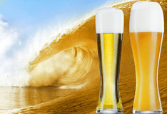 Big beer wave Royalty Free Stock Image