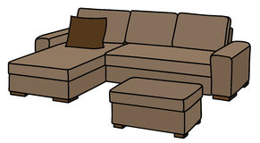 Big beige couch Stock Photos