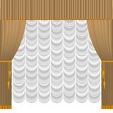 Beige curtain stock illustration