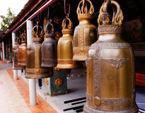 Big bell. Ayuttaya thailand has temple's big bell stock images