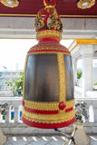 Big bell in buddhist temple in Thailand Stock Image