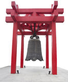 Big bell  hang on red shelf Stock Image