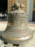 The Big Bell of The Laura. Bell, taken off for a reconstruction from the bell tower of the Uspensky cathedral. Territory of the Kiev Laura of the Caves Stock Image