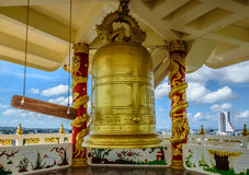 BIG BELL. Located at Mahapanya Vidayalai University in Hatyai Thailand. The College for the Wisdom, International Buddhist college Stock Photo