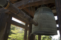 Big bell in Nara park, Japan. Big budhist bell in temple in Nara park, Japan Stock Photography