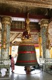Big bell in Shwedagon Pagoda, Yangon. (Myanmar Royalty Free Stock Images