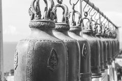 Big bells in the buddhist temple royalty free stock photos