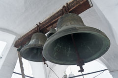 Big bells at Uspensky Cathedral in Rostov Kremlin. Russia. Stock Photos