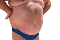Big belly of man. Royalty Free Stock Photography