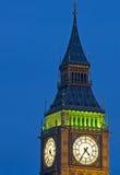 Big Ben αναμμένο επάνω τη νύχτα Στοκ εικόνα με δικαίωμα ελεύθερης χρήσης