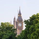 Big Ben, πύργος ρολογιών παλάτι του Γουέστμινστερ, Λονδίνο, Ηνωμένο Βασίλειο Στοκ Εικόνες