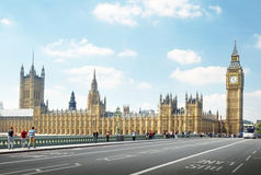Big Ben στην ηλιόλουστη ημέρα, Λονδίνο Στοκ εικόνες με δικαίωμα ελεύθερης χρήσης