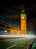 Big Ben τη νύχτα, Λονδίνο Στοκ Εικόνα