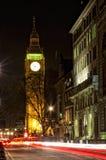 Big Ben τη νύχτα Στοκ εικόνα με δικαίωμα ελεύθερης χρήσης