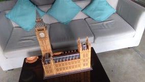 Big Ben του τρισδιάστατου γρίφου του Λονδίνου Στοκ Φωτογραφία
