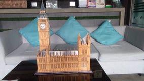Big Ben του τρισδιάστατου γρίφου του Λονδίνου Στοκ Φωτογραφίες