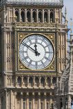 Big Ben. Detail of Big Ben clock tower, London Royalty Free Stock Photos