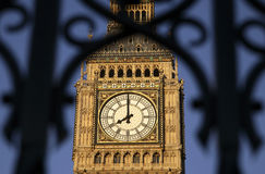 Big Ben. Clock face part of the Houses of Parliment, London, UK, Europe Royalty Free Stock Photos