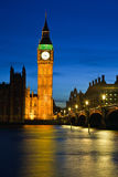 Big Ben. And Houses of Parliament at night, London, UK Stock Photography