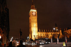 Big Ben. Panning at night of Big Ben - london Royalty Free Stock Photo