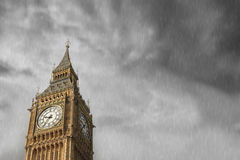 Big Ben. View of the Big Ben in London Stock Photos