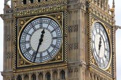 Big Ben. Detail of the clocks of Big Ben Royalty Free Stock Photography