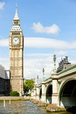 Big Ben. And Westminster Bridge, London, Great Britain Royalty Free Stock Images