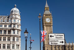 Big Ben. Central London scene with Big Ben at the north end of the Palace of Westminster in London Stock Image