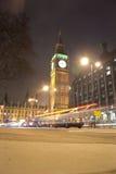 The Big Ben. Big ben at rush hour traffic in the night. London, UK Royalty Free Stock Photos
