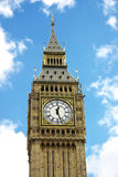 Big Ben 2. Big Ben with fluffy white clouds and blue sky royalty free stock photos