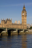Big Ben. And Westminster Bridge in London Stock Photos