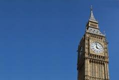 Big Ben. Close up of Big Ben in London, England Stock Images