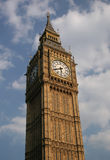 Big Ben. Clock tower, blue sky Royalty Free Stock Image