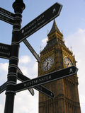 Big Ben. Famous clock and London landmark Stock Photography