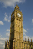 Big Ben. Clock tower with cloudy sky background Royalty Free Stock Photography