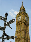 Big Ben. Famous clock and London landmark Royalty Free Stock Image