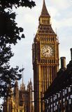 Big Ben. Clock tower at the Houses of Parliament, London UK Royalty Free Stock Image